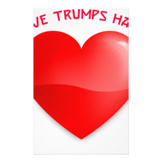 love trumps hate, red heard donald gift t shirt stationery