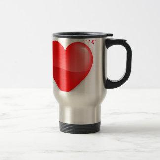 love trumps hate, red heard donald gift t shirt travel mug