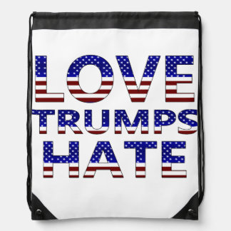 Love Trumps Hate Stars and Stripes Backpack