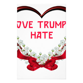 love trumps hate stationery