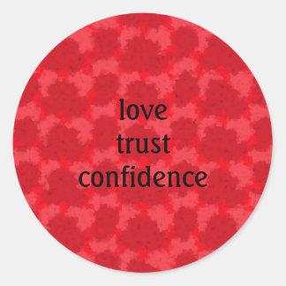 Love trust confidence classic round sticker
