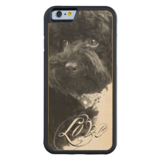 """Love"" Typography Pet or Pet Memorial Add Photo Maple iPhone 6 Bumper"