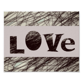love typography quote poster word art