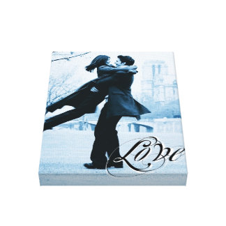 Love Typography Your Photo Template Wrapped Canvas