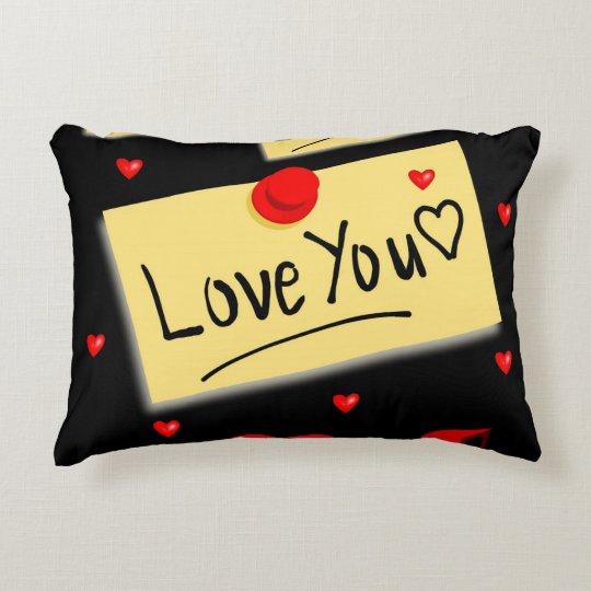 love u black zazzle new decorative cushion