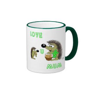 Love U Mum Ringer Mug