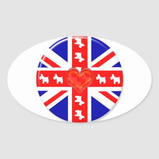 Love Union Jack (Westies) Stickers