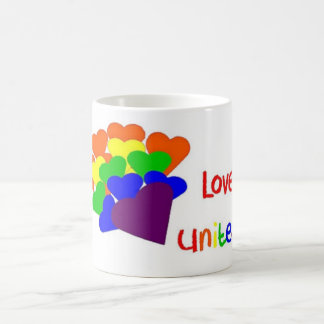 Love Unites Heart Bouquet Mug
