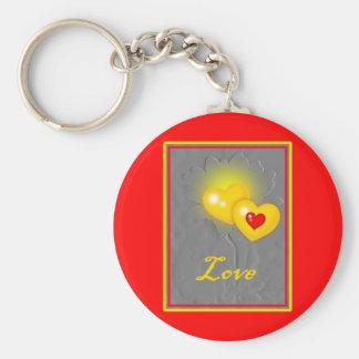 Love Valentine Flower Keychain