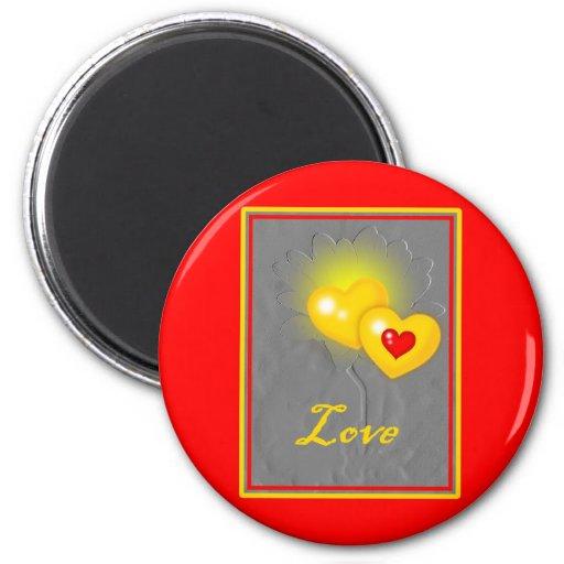 Love Valentine Flower Magnet