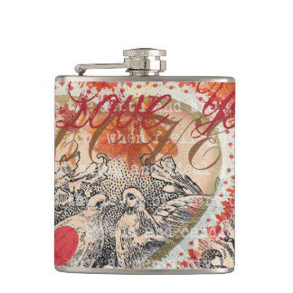 Love Valentine Hip Flask