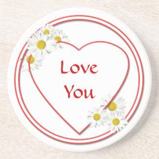 Love Valentine Party Daisy Coaster