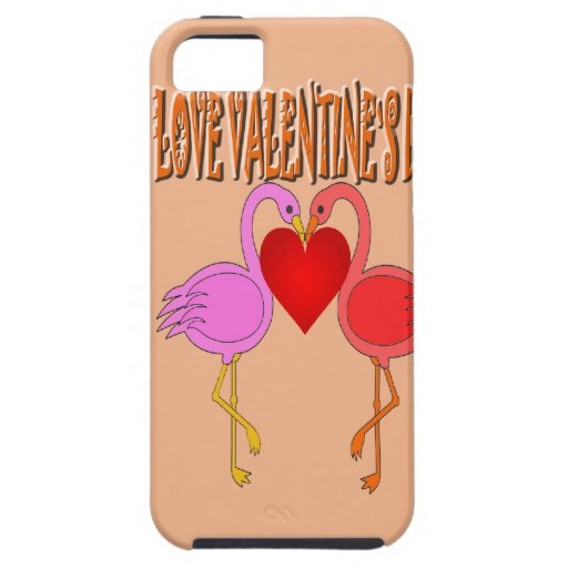 Love Valentine`s Day With Background iPhone 5 Case