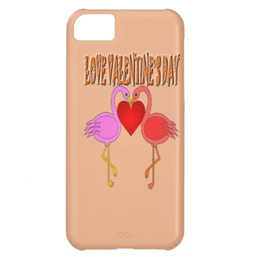 Love Valentine`s Day With Background Case For iPhone 5C