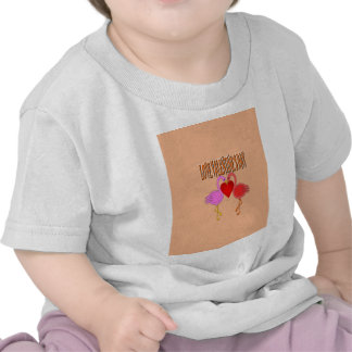 Love Valentine`s Day With Background Tee Shirt