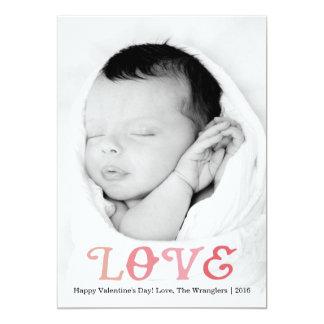 LOVE | Valentine's Day Photo Card 13 Cm X 18 Cm Invitation Card