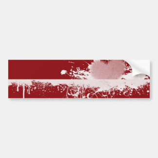 LOVE Valentine's Day Red White Heart Gifts Bumper Sticker