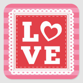 LOVE Valentine's Day Stickers by Origami Prints