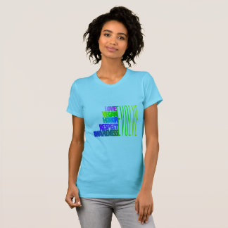 LOVE VEGAN HONOR RESPECT AWARENESS - T-SHIRT