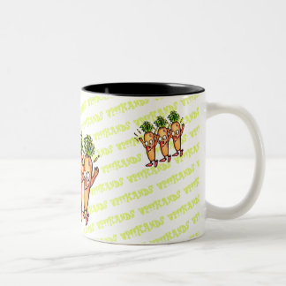 LOVE VEGETABLES!! - Carrot- Two-Tone Coffee Mug