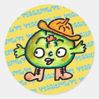 LOVE VEGETABLES!! - Pumpkin- Classic Round Sticker