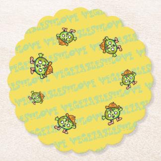 LOVE VEGETABLES!! - Pumpkin- Paper Coaster