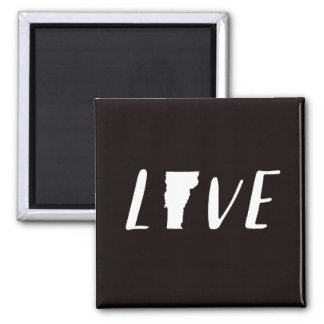 Love Vermont - Black and White State Magnet