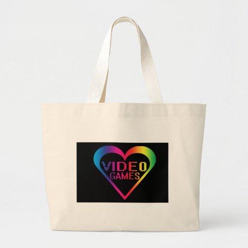love video games canvas bag