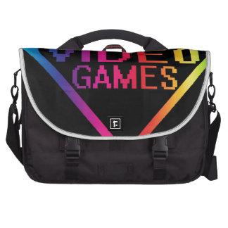 love video games laptop messenger bag