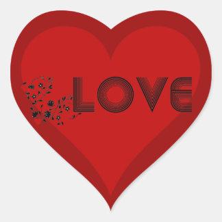 LOVE Vine with Hearts Sticker Heart Sticker