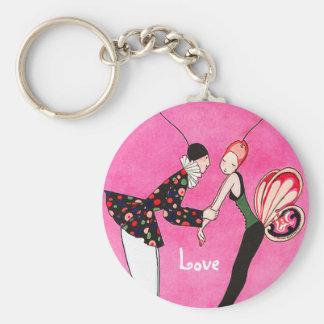 Love. Vintage Style Valentine's Day Gift Keychain