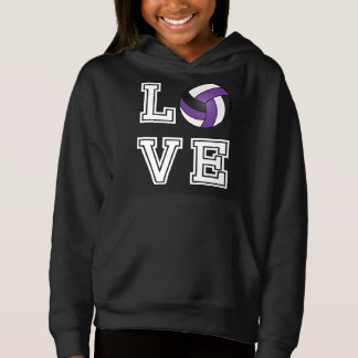 Love Volleyball - Purple, White and Black