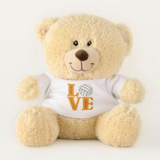 Love Volleyball sports word art bear