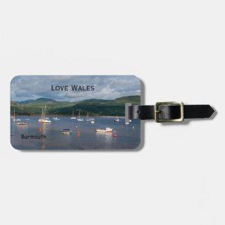 Love Wales Boats at Barmouth Luggage Tag