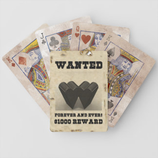 Love Wanted Poster Playing Cards