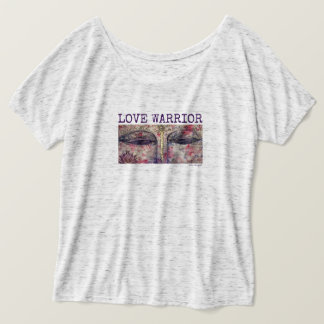 Love Warrior Buddha Eyes Women's Flowy T-Shirt