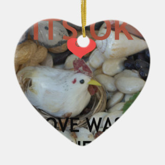 Love was in the Air Ceramic Heart Decoration