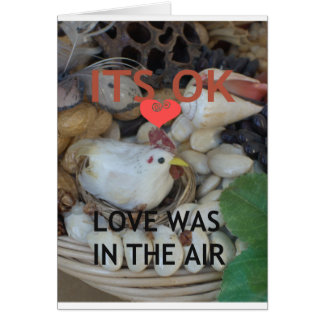 Love was in the Air Greeting Card