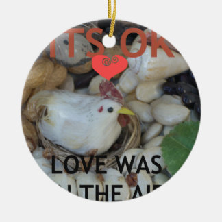 Love was in the Air Round Ceramic Decoration