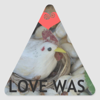 Love was in the Air Triangle Sticker