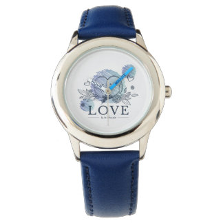Love Watch Stainless Steel Blue
