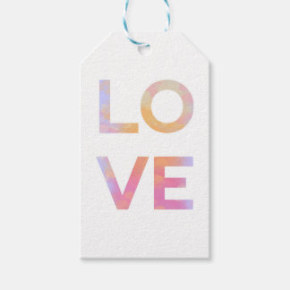 Love, watercolor gift tags