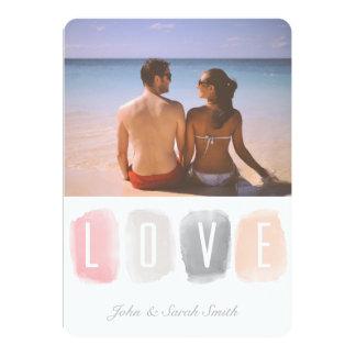 Love Watercolor Palette | Photo Valentine 13 Cm X 18 Cm Invitation Card