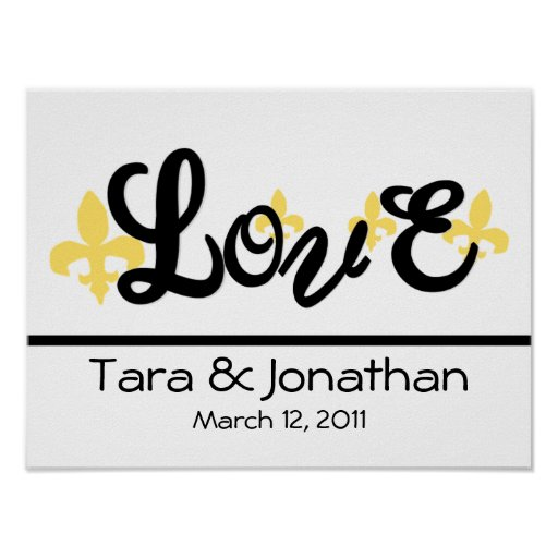 Love: Wedding Poster with names and date