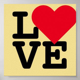 Love Wedding Valentines Day Golden Yellow Poster