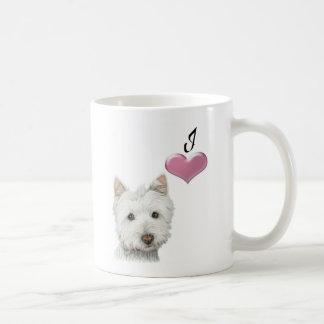 Love Westie Dog Art Mug