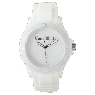 Love White Custom Sporty White Silicon Watch