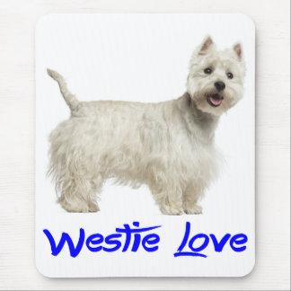 Love White West Highland Terrier Dog Mousepad