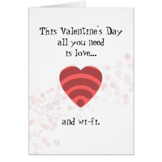 Love & Wi-Fi - Romantic Valentine's Day Card
