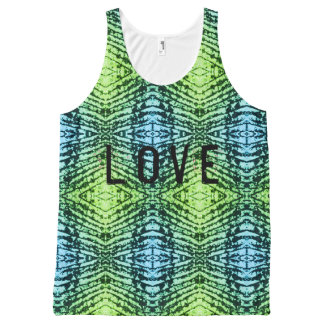 Love wiith pattern All-Over print singlet